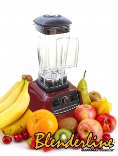 Blenderline Smoothie Blender Professional, 45.000 ot./min, 2200W, červený